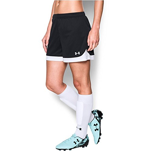 Under Armour Womens Maquina Shorts, Black (001)/White, Small