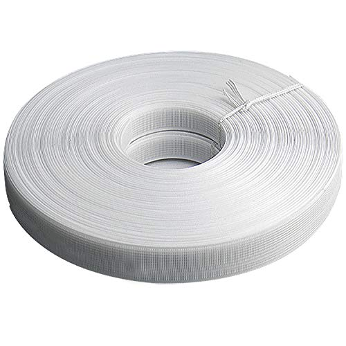 - Teemico 50 Yards Polyester Boning for Sewing - Sew-Through Low Density Boning for Corsets, Nursing Caps, Bridal Gowns, (12mm Wide, White)