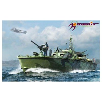 Merit International MRT64801 1:48 Merit US Navy Elco 80' Motor Patrol Torpedo Boat Late Type [MODEL BUILDING KIT] by