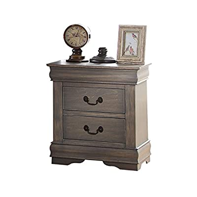 Acme Furniture Louis Philippe 23863 Nightstand, Antique Gray, One Size