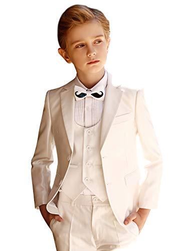 ELPA ELPA Boy Suit Slim Fit Formal Dress Suit for Wedding Holiday Party,Black Suit and White Suit