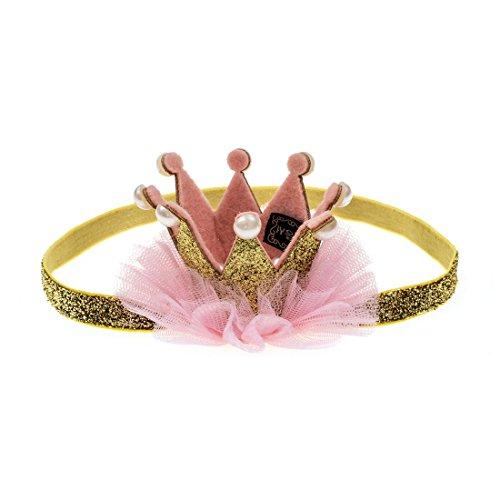 Princess Tiara With Bows (Merroyal Princess Baby Girls Crown Tiara Headband Hairband Hair Accessories (Gold))