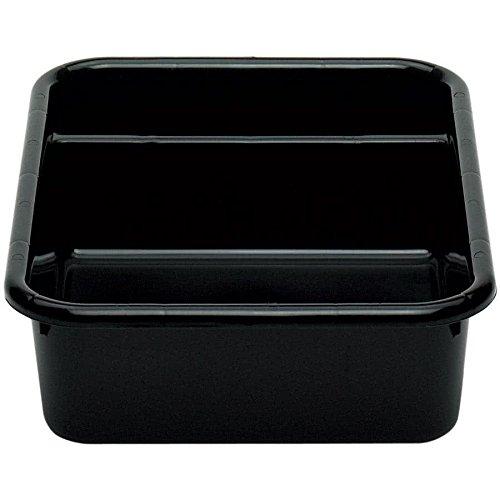 Cambro 1621CBP110 Cambox 21'' x 16'' x 5'' Black Polyethylene Plastic Bus Box by Cambro