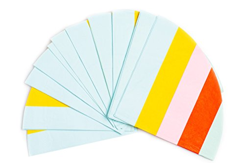 Sugar & Cloth Round Paper Dinner Napkins, Rainbow Stripe, 32 Count (Paper Striped Plates)
