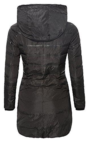 CRAVOG Damen Jacke Daunen Frauen Lang Kapuze Mantel Verdickende Warme Leichte Dünne Winterfeste Winter Bekleidung Wärmehaltung Steppjacke Daunenjacke Schwarz