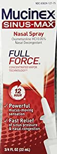 Mucinex Sinus-Max Full Force Nasal Decongestant Spray, 0.75 Ounce