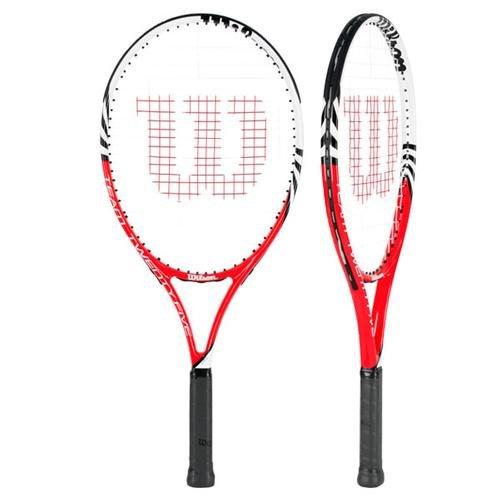 Wilson 2013 Junior Team Recreational Tennis Racquet, 25'' - 3 7/8'' Grip - Red/Black/White by Wilson
