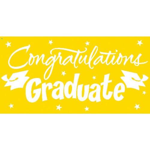 Creative Converting Congrats Grad Paper Art Gigantic Greetings, Yellow