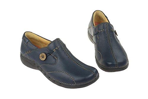 Zapatillas Un de mujer cuero de Loop Clarks azul casa wEC4qfSS