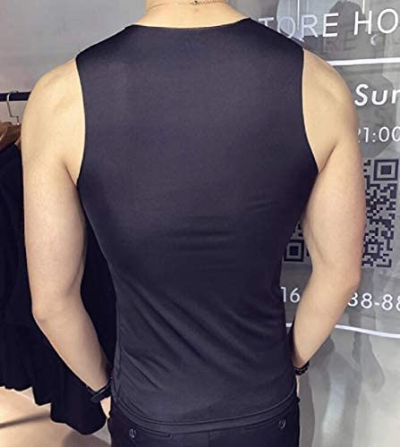 Memories Love Mens V Neck Gym Workout Casual Sleeveless Solid Color Tank Top