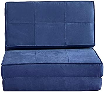 Flip Chair Convertible Sleeper Dorm Bed Couch Lounger Sofa New Suede Material, Blush
