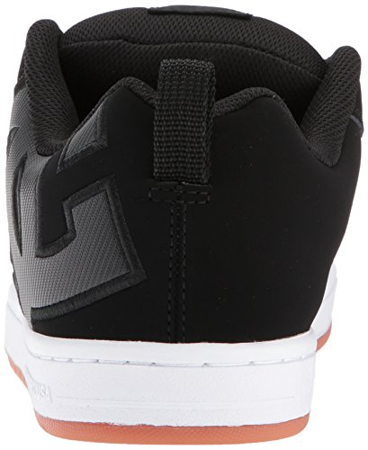DC Black Graffik SE Black Skateboarding Gum Court Shoe Men rwq0Br