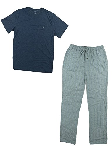 Nautica Mens Pajama Set Maritmnavy Medium