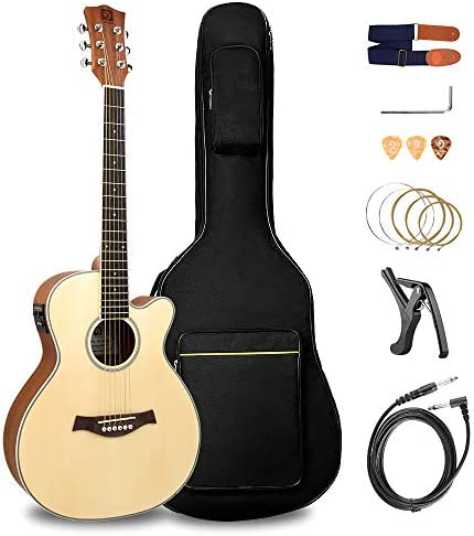 Vangoa Guitarra Acústica de 36 pulgadas Ecualizador de 2 bandas ...