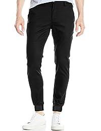 Italy Morn Mens Chinos Casual Pants Khakis Joggers Dress Slim Fit Black