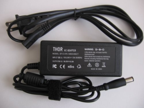 Thor Brand Replacement Ac Power Adapter Cord for Hp Pavilion Laptop Pc: G7-1085nr G7-1086nr G7-1101 G7-1139wm G7-1150us G7-1154nr G7-1156nr G7-1167dx G7-1171cl G7-1173ca G7t G7t-1100 Battery Charger