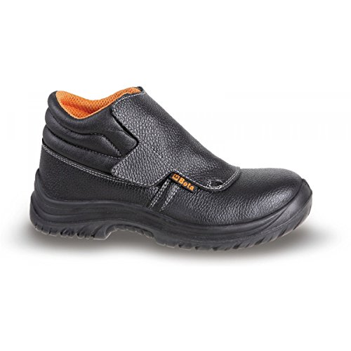 7245B 47 BETA SIZE 12/47 LACE-UP FULL-GRAIN LEATHER ANKLE SHOE WATERPROOF WITH QUICK OPENING SYSTEM AND FRONT PROTECTION WITH STRAP CLOSURE EN20345 S3 RS SRC