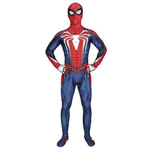 (Elakaka PS4 Costume,Superhero PS4 Insomniac Spiderman Adult Bodysuit)