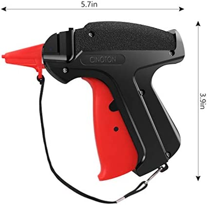 """CINOTON Clothes Tagging Gun, Price Tag Gun with 1500 pcs 2"""" Standard Fasteners, 6 Needles,10 pcs Labels, Tag Gun for Clothing Fit Yard Sale/Flea Market and Decorate 6"""