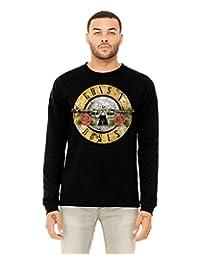 Guns N' Roses Distressed Bullet Logo Mens Music Band Shirt