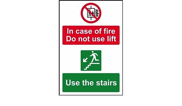 En caso de fuego no utilice elevación uso las escaleras ...