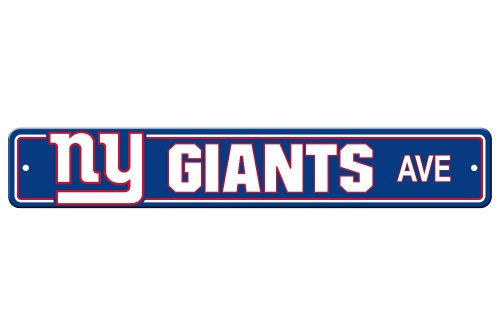 Fremont Die NFL New York Giants Plastic Street Sign