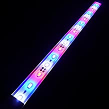 LEDENET SMD 5730 Super Bright Aquarium Coral LED Strip Light - Waterproof Aluminum Cabinet Lighting - LED Plant Grow Lights 12V DC Cold White + Blue + Red Color Bar lamp 30cm Long (12 inch)