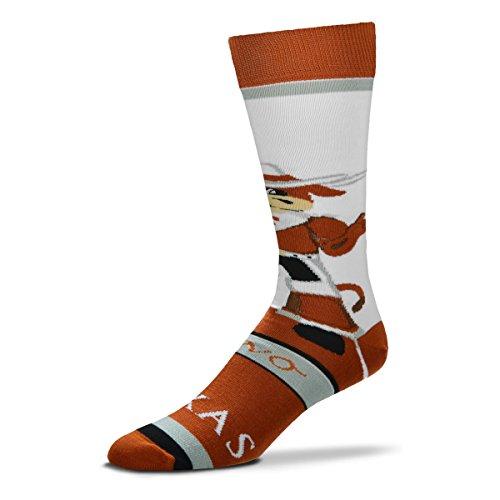 For Bare Feet Texas Longhorns Bevo Mascot Socks by For Bare Feet