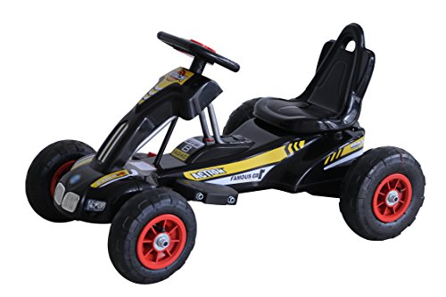Go-Kart-Racing with Horn Music and Power Air Wheel Black