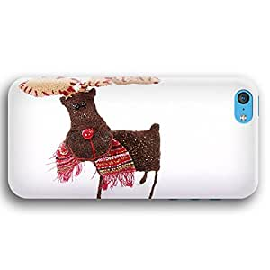 Cute Rudolph Hand Made Ornament iPhone 5C Slim Phone Case