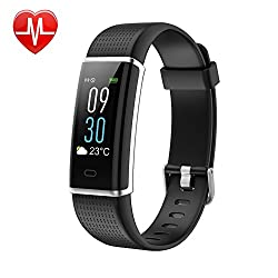 Lintelek Fitness Tracker, Color Screen Activity Tracker with Heart Rate Monitor, Sleep Monitor, 14 Sports Modes, IP68 Waterproof Pedometer, Step Counter for Kids, Women, Men