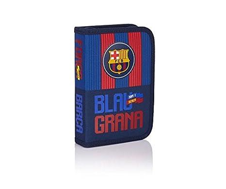 FC Barcelona Barca Fan 5 Estuches, 20 cm, 0.92 liters, Azul ...