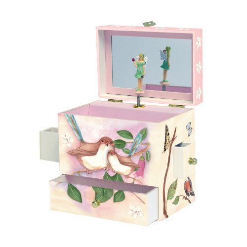 Enchantmints Sweet Fairy Wrens Music Jewelry - Jewelry Fairy Treasure Musical Box