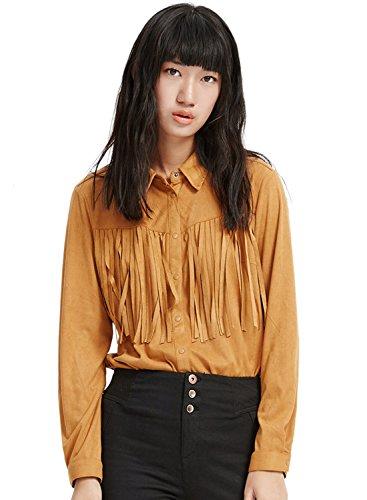 meters-bonwe-womens-solid-long-sleeve-fringed-button-down-tassel-shirt-blouse-camel-xl