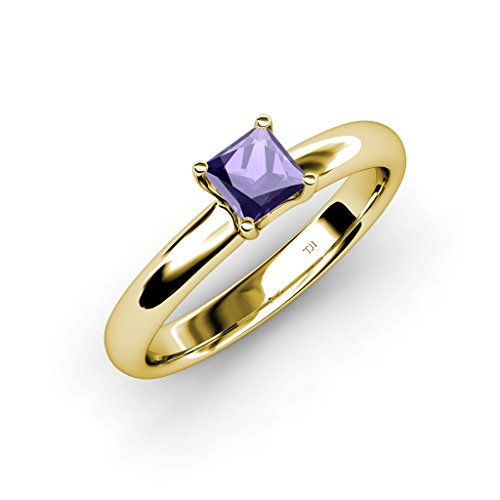 TriJewels Iolite Solitaire Ring 0.85 ct in 14K Yellow Gold.size 6.5 ()
