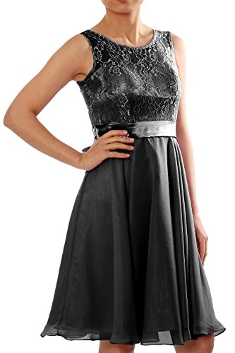 Formal Schwarz Dress Bridesmaid Gown Women Party Chiffon MACloth Cocktail Lace Short qwfBnS1U