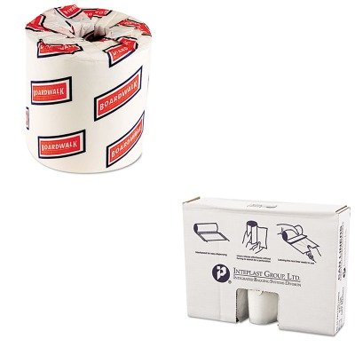 KITBWK6150IBSVALH4048N14 - Value Kit - Integrated Bagging Systems VALH4048N14 Natural Can Liners, 12 Micron, 40 - 45 Gallons (IBSVALH4048N14) and Boardwalk 6150 Two-Ply Bathroom Tissue (BWK6150)