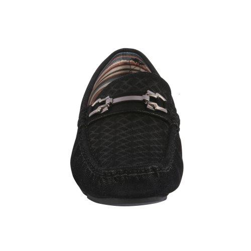 Js Awake Mens Kenny-97 Mocassini Mocassini Slip On Shoes Nero