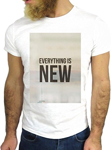 T SHIRT JODE Z1889 EVERYTHING IS NEW LIFESTYLE AMERICA FUN COOL FASHION NICE GGG24 BIANCA - WHITE S