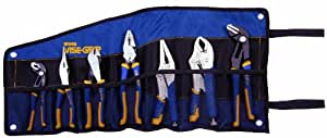 IRWIN Tools VISE-GRIP GrooveLock, Pliers and Locking Pliers Set, 7-Piece with Tool Wrap (1802537)