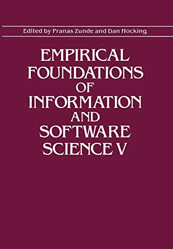 Empirical Foundations of Information and Software Science V by Springer