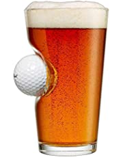 BenShot Pint Glass with Real Golf Ball - Made in the USA