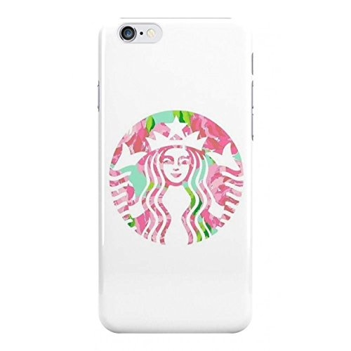 Pink Starbucks Logo Phone Case - Hard Plastic, Snap On Cell Phone Cover - iPhone, iPod & Samsung - Fun Cases - iPhone 7 (Ipod Case Starbucks)