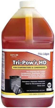 Evaporator Air Filter - Nu-Calgon Tri-Pow'r HD 4371-88 Cleaner for condensers, evaporator coils, permanent filters, fan blades, motors