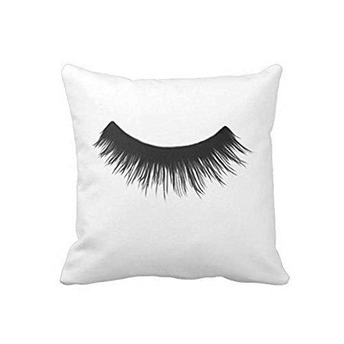 hello halo False Eyelash Classic Chair Cushion Cover Invisible Zipper Twin Side Luxury Print Decoration Pillow Cover (Jr Twin Chair Cover)