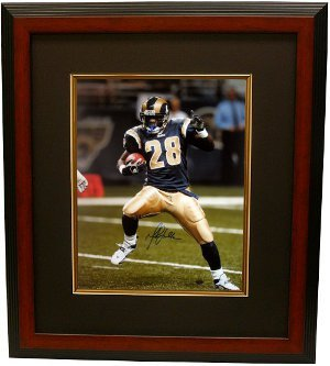 Marshall Faulk signed St. Louis Rams 16x20 Photo Custom Framed - Autographed NFL Photos by Athlon
