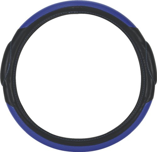 Pilot SW-68B Racing Style Steering Wheel Cover in Blue and Black
