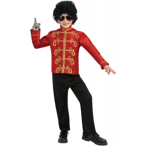 Michael Jackson Costume For Toddler (Deluxe Red Military Jacket Child Costume - Large)