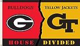 Bsi Products Collegiate Georgia-Georgia Tech House Divided Flag