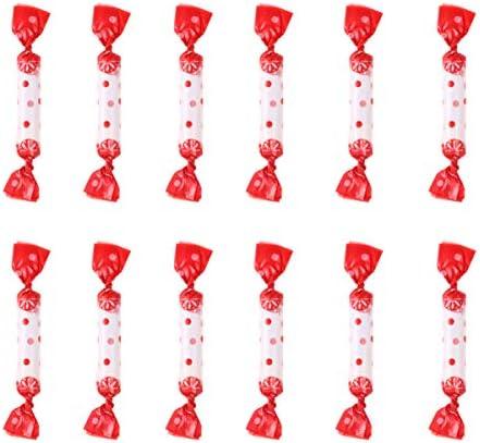 NUOBESTY 500ピースヌガーキャンディーラッパードットプリントツイストワックスキャラメル紙お菓子キャンディーベーキング包装紙用バレンタインデーウェディングレッド
